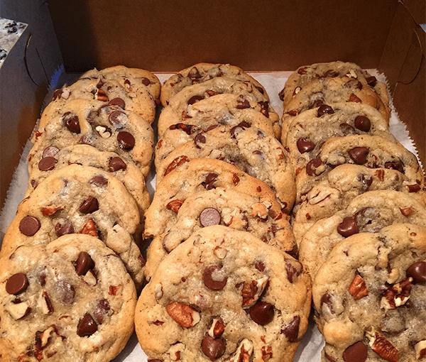 """Stir Like Crazy"" Chocolate Chip Pecan Cookies"