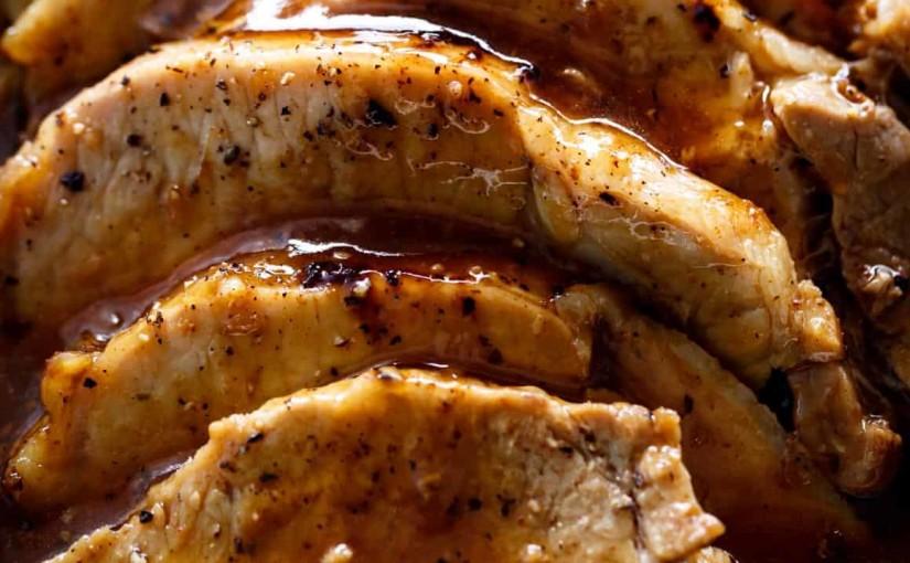 Amazing Honey Garlic Asian Pork Loin and Sauce
